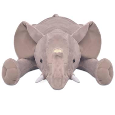 vidaXL Elefant de pluș de jucărie XXL, 120 cm[3/4]