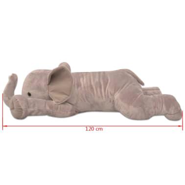 vidaXL Elefant de pluș de jucărie XXL, 120 cm[4/4]