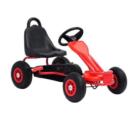 vidaXL Pedal Go-Kart mit Luftreifen Rot[1/7]