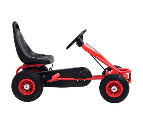 vidaXL Pedal Go-Kart mit Luftreifen Rot[2/7]