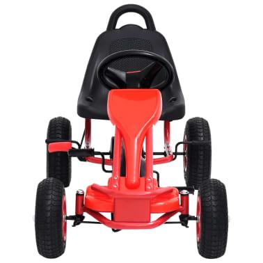 vidaXL Pedal Go-Kart mit Luftreifen Rot[3/7]