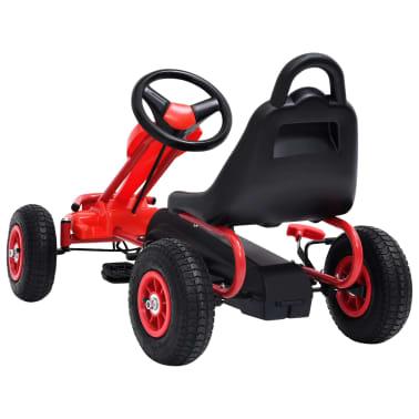 vidaXL Pedal Go-Kart mit Luftreifen Rot[4/7]