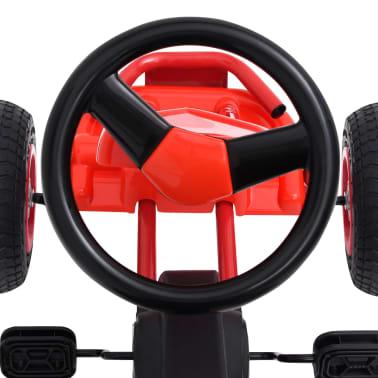 vidaXL Pedal Go-Kart mit Luftreifen Rot[5/7]
