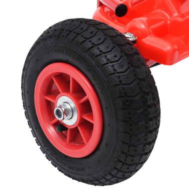 vidaXL Pedal Go-Kart mit Luftreifen Rot[6/7]