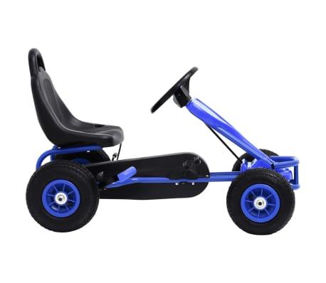 vidaXL Mașinuță kart cu pedale și roți pneumatice, albastru[2/7]
