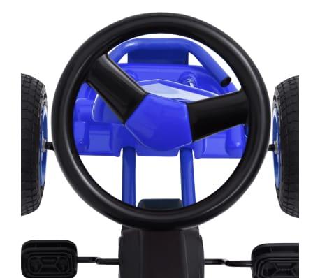 vidaXL Mașinuță kart cu pedale și roți pneumatice, albastru[5/7]