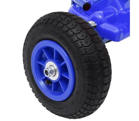 vidaXL Mașinuță kart cu pedale și roți pneumatice, albastru[6/7]