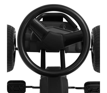 vidaXL Mașinuță kart cu pedale și roți pneumatice, negru[5/7]