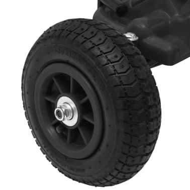 vidaXL Mașinuță kart cu pedale și roți pneumatice, negru[6/7]