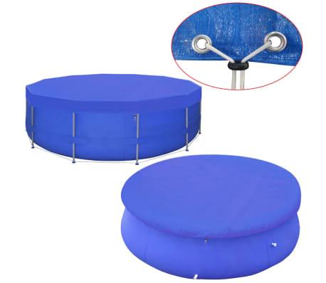 vidaXL Kruhová krycia plachta na bazén z PE, 460 cm, 90 g/m²[1/6]