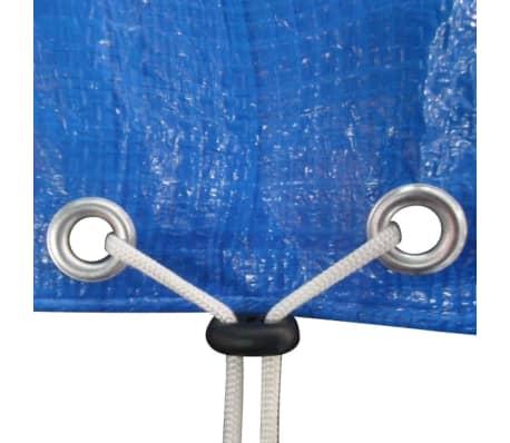 vidaXL Kruhová krycia plachta na bazén z PE, 460 cm, 90 g/m²[6/6]