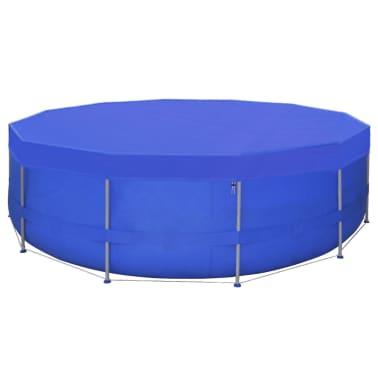 vidaXL Kruhová krycia plachta na bazén z PE, 460 cm, 90 g/m²[3/6]
