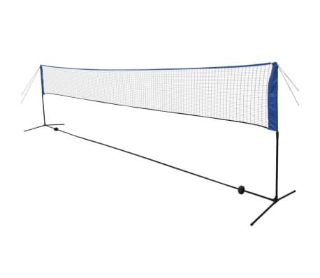 vidaXL Badminton Net with Shuttlecocks 600x155 cm