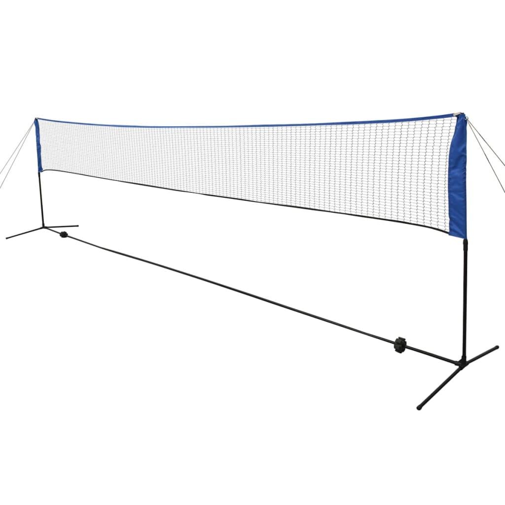 Badmintonová síť s košíčky, 600x155 cm