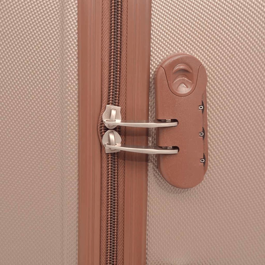 Neljaosaline kõvakattega kohvrite komplekt šampanjavärvi