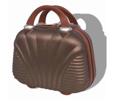 vidaXL Juego de maletas rígidas 4 unidades café[6/7]