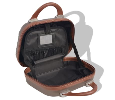 vidaXL Juego de maletas rígidas 4 unidades café[7/7]