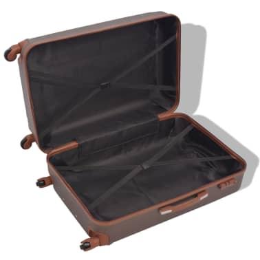 vidaXL Juego de maletas rígidas 4 unidades café[3/7]