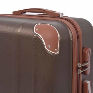 vidaXL Juego de maletas rígidas 4 unidades café[4/7]