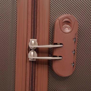 vidaXL Juego de maletas rígidas 4 unidades café[5/7]