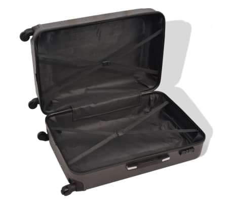 vidaXL 4 Piece Hardcase Trolley Set Anthracite[3/7]