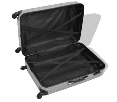 vidaXL Juego de maletas rígidas cuatro unidades plata[3/7]