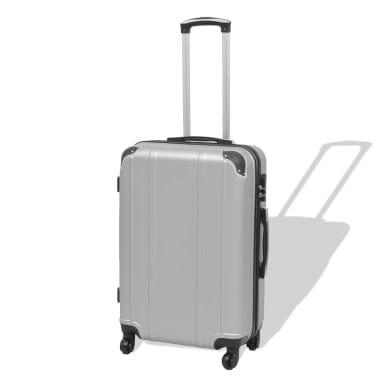 vidaXL Juego de maletas rígidas cuatro unidades plata[2/7]