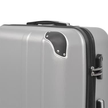 vidaXL Juego de maletas rígidas cuatro unidades plata[4/7]
