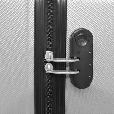 vidaXL Juego de maletas rígidas cuatro unidades plata[5/7]