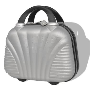 vidaXL Juego de maletas rígidas cuatro unidades plata[6/7]
