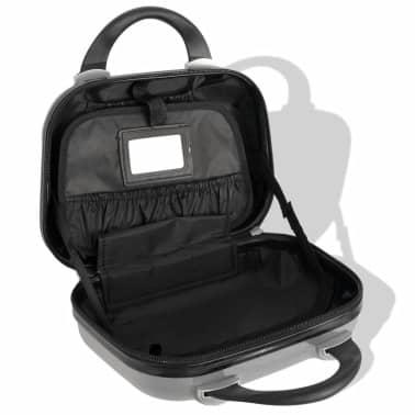 vidaXL Juego de maletas rígidas cuatro unidades plata[7/7]