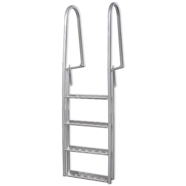"vidaXL 4-Step Dock/Pool Ladder Aluminum 66.9""[1/5]"
