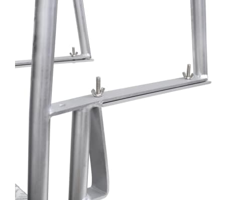 "vidaXL 4-Step Dock/Pool Ladder Aluminum 66.9""[5/5]"