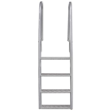 "vidaXL 4-Step Dock/Pool Ladder Aluminum 66.9""[2/5]"
