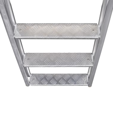 "vidaXL 4-Step Dock/Pool Ladder Aluminum 66.9""[4/5]"