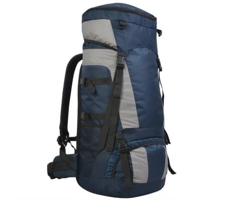 vidaXL Turistický batoh s vodotesným obalom XXL 75 l, námornícka modrá