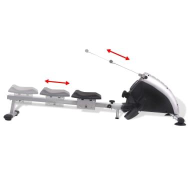 vidaXL Roeiapparaat 4,5 kg vliegwiel magnetische weerstand 8 niveaus[2/8]