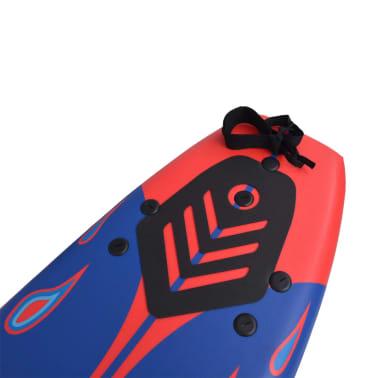 vidaXL Surfová doska, modro-červená, 170 cm[5/7]