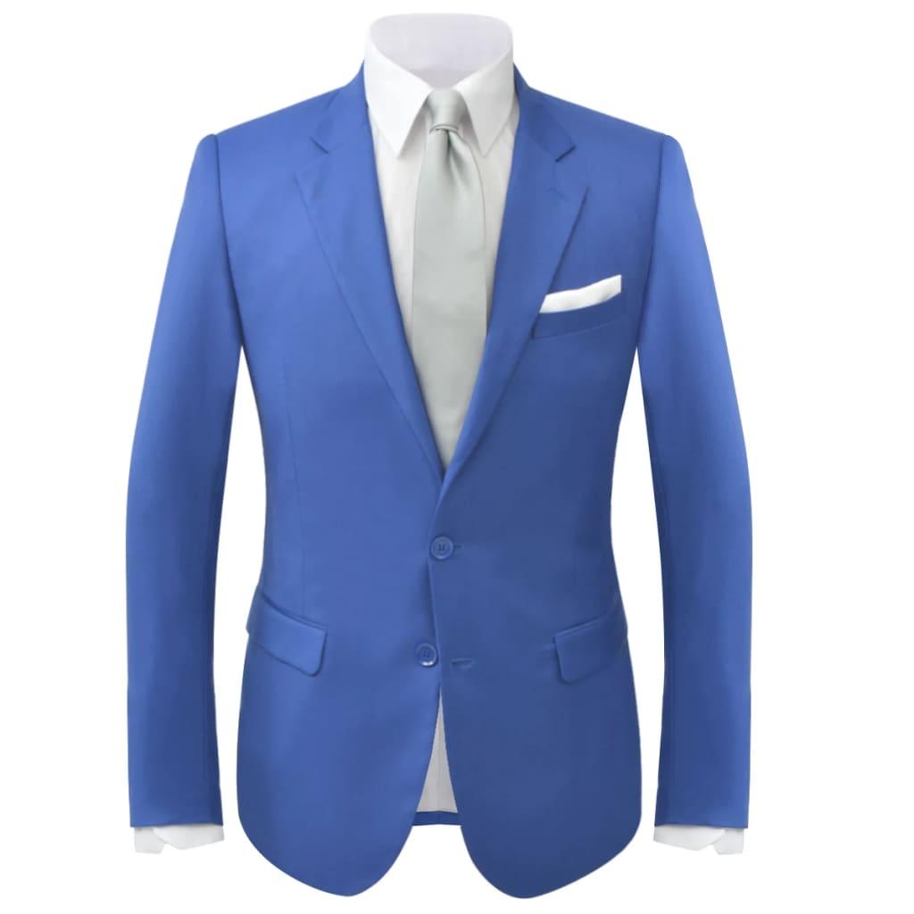 vidaXL Pánský dvoudílný oblek královská modrá, vel. 46
