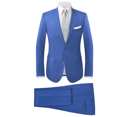 vidaXL Costum bărbătesc 2 piese cu cravată mărimea 48, albastru închis[1/9]