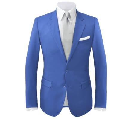 vidaXL Costum bărbătesc 2 piese cu cravată mărimea 48, albastru închis[2/9]