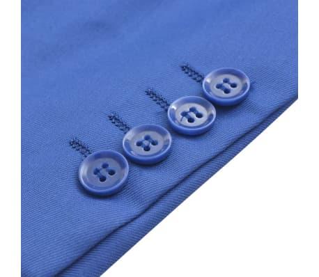 vidaXL Costum bărbătesc 2 piese cu cravată mărimea 48, albastru închis[5/9]