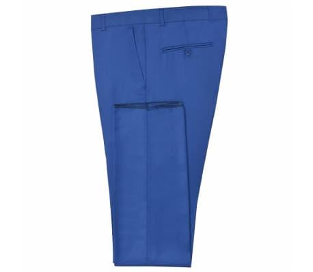 vidaXL Costum bărbătesc 2 piese cu cravată mărimea 48, albastru închis[6/9]