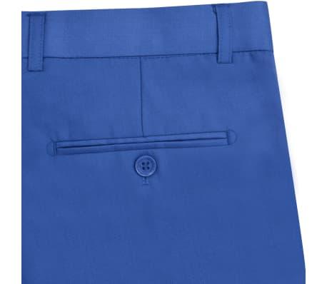 vidaXL Costum bărbătesc 2 piese cu cravată mărimea 48, albastru închis[8/9]