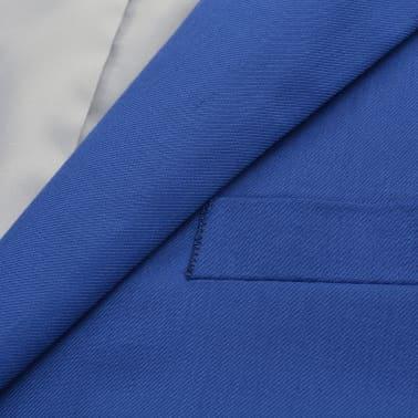 vidaXL Costum bărbătesc 2 piese cu cravată mărimea 48, albastru închis[3/9]