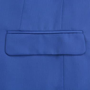 vidaXL Costum bărbătesc 2 piese cu cravată mărimea 48, albastru închis[4/9]