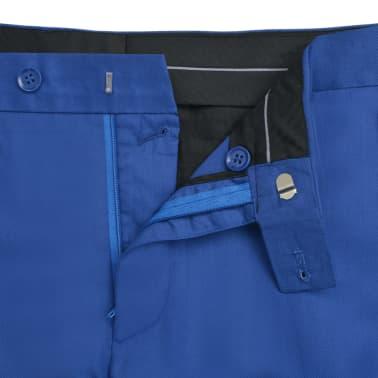 vidaXL Costum bărbătesc 2 piese cu cravată mărimea 48, albastru închis[7/9]