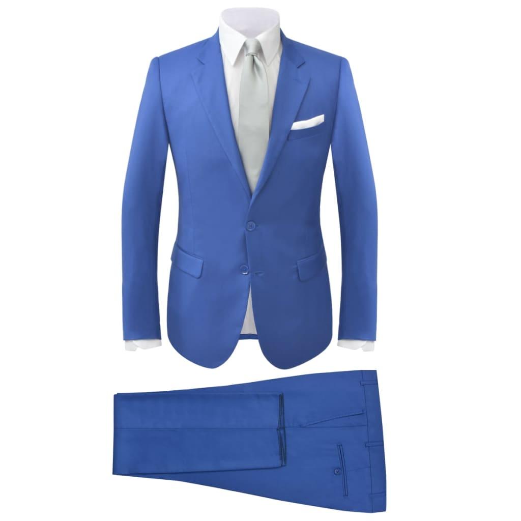 vidaXL Garnitur męski dwuczęściowy, błękitny, rozmiar 52
