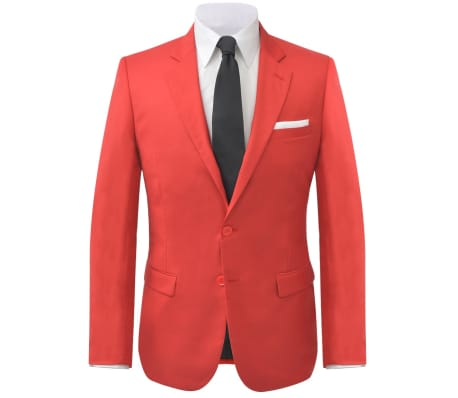 16e9fff09f29 vidaXL 2-tlg. Herren-Anzug Rot Größe 50 günstig kaufen   vidaXL.de
