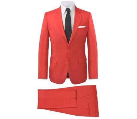 vidaXL Costume à 2 pièces pour hommes Rouge Taille 52[1/9]